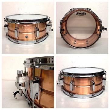 "Echo Custom Drums 13"" x 6"" Copper Snare Drum"