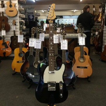 PRE-OWNED: Berkeley Telecaster Copy Electric Guitar - Black