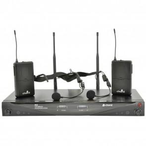 RU2-N Dual Neckband UHF Microphone Set 863.3 + 864.3MHz