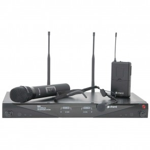 RU2-C Dual Combo UHF Microphone Set 863.3 + 864.3MHz