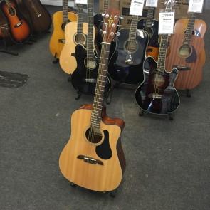 PRE-OWNED: Alvarez RD8C Single Cut Acoustic Electric Guitar - Natural