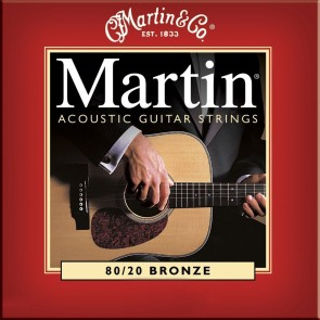 Martin Acoustic Guitar Strings 80/20 Bronze - Light .012 - .054