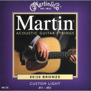 Martin Acoustic Guitar Strings 80/20 Bronze - Custom Light
