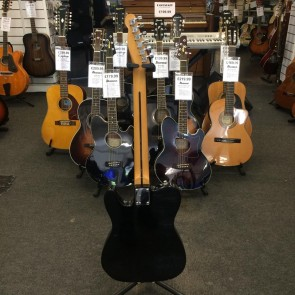 PRE-OWNED: Vintage '88 Fender Squier Telecaster MIK Electric Guitar - Black