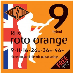 Rotosound 'Roto Orange' Guitar Strings - Hybrid