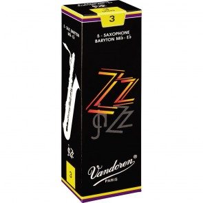 Vandoren ZZ Jazz Baritone Saxophone Reeds (5 Pack)