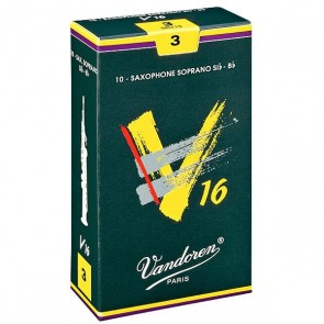 Vandoren V16 Soprano Saxophone Reeds (10 Pack)