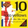 Rotosound 'Roto Yellows' Guitar Strings - Hybrid .010 - .046w (R10)
